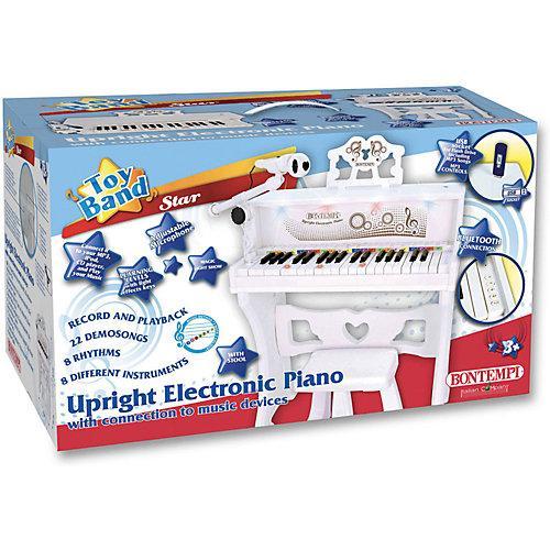 Upright Elektronisches Piano, mit MP3, USB und Bluetooth weiß