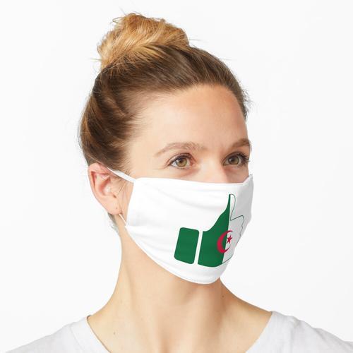 Fahnen-Daumen von Algerien Maske