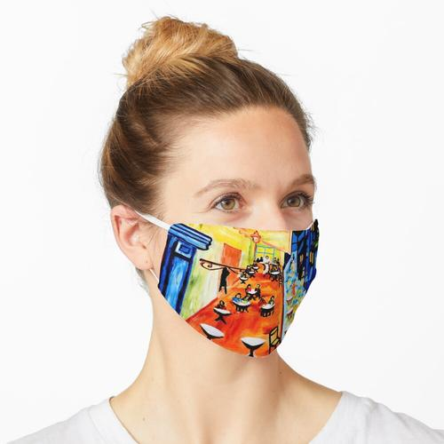 Café-Terrasse nachts - Van Gogh-Tribut Maske