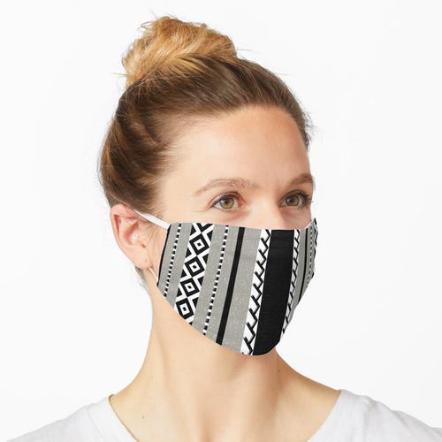 Gestricktes Tuch grau Maske