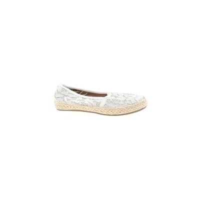 The Children's Place Flats: Ivory Solid Shoes - Size 5