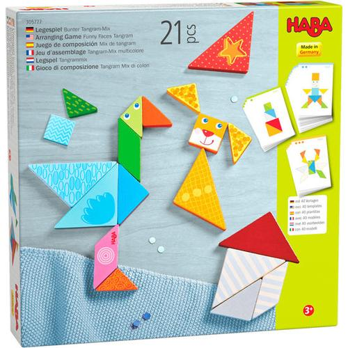 HABA Legespiel Bunter Tangram-Mix, bunt