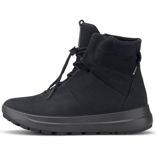 Ecco, Schnür-Boots Solice in schwarz, Boots für Damen Gr. 41