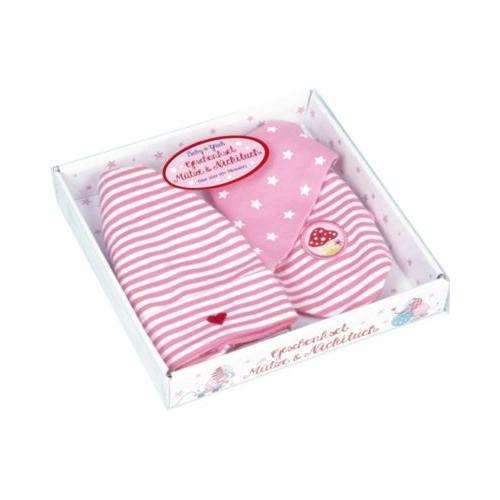 Geschenkset Mütze + Nickituch BabyGlück, rosa (one size)