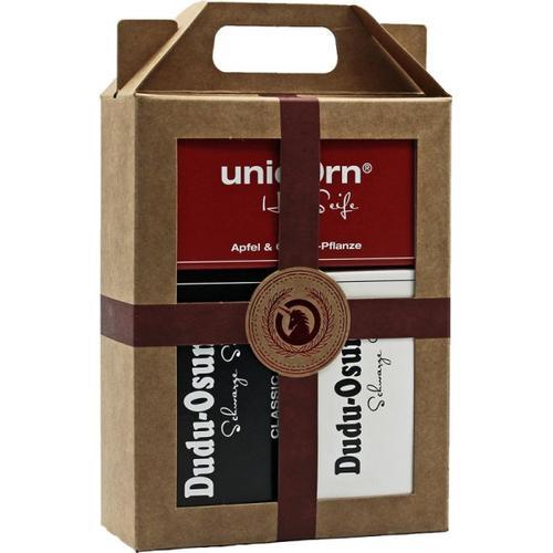 Unicorn Geschenk-Set unicorn Haarseife 100g + Dudu Osun Classic & Pure 150g