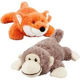 Frisco Plush Squeaking Monkey Dog Toy, Medium & Frisco Plush Squeaking Fox Dog Toy, Medium