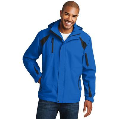 Port Authority J304 All-Season II Jacket in Snorkel Blue/Black size 4XL   Fleece