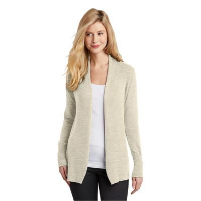 Port Authority LSW289 Women's Open Front Cardigan Sweater in Biscuit size 3XL   Cotton/Nylon Blend