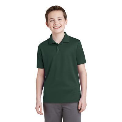 Sport-Tek YST640 Youth PosiCharge RacerMesh Polo Shirt in Dark Forest Green size XS   Polyester
