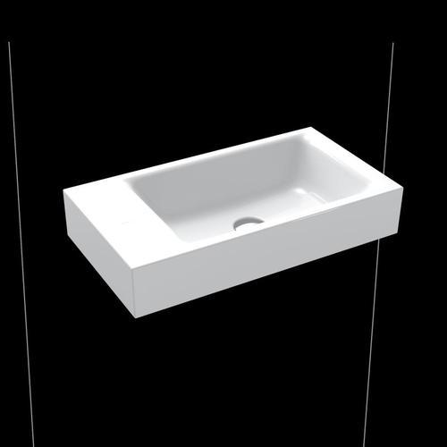 Kaldewei Puro Handwaschbecken B: 55 T: 30 cm, Becken rechts weiß, ohne Hahnloch 901206433001