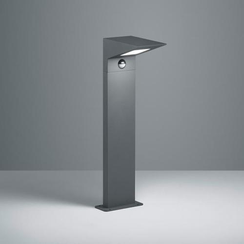 TRIO Nelson LED Pollerleuchte mit Bewegungsmelder B: 14 H: 50 T: 19,5 cm, anthrazit 525369142, EEK: A+