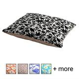 Deny Designs Pillow Cat & Dog Bed w/ Removable Cover, Otomi Party Black