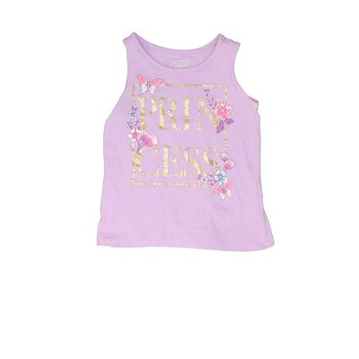 The Children's Place - The Children's Place Sleeveless T-Shirt: Purple Solid Tops - Size 4Toddler