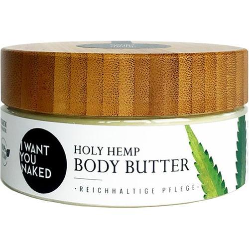 I Want You Naked Holy Hemp Body Butter Bio-Hanfsamenöl & Vitamin E 200 ml Körperbutter