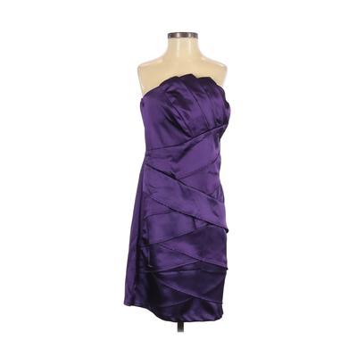 BCX dress - BCX dress Cocktail Dress - Party: Purple Solid Dresses - Used - Size 7