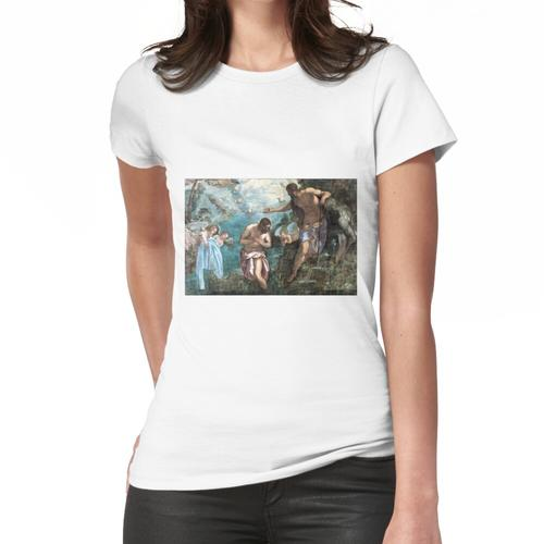 Jacopo Tintoretto Taufe Christi Frauen T-Shirt