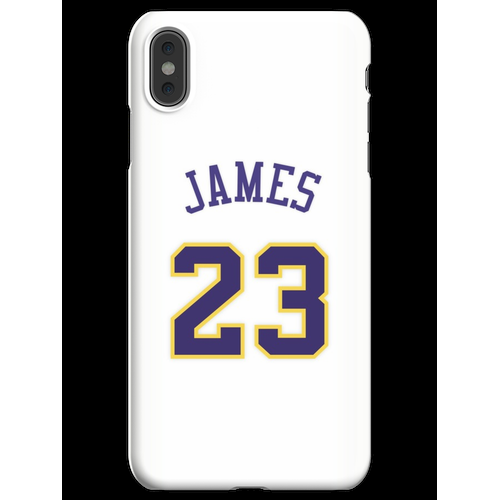 LeBron James White Lakers Trikot iPhone XS Max Handyhülle