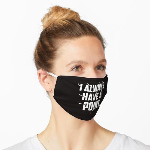 Akupunkteure Akupunktur Ich habe immer einen Punkt Maske