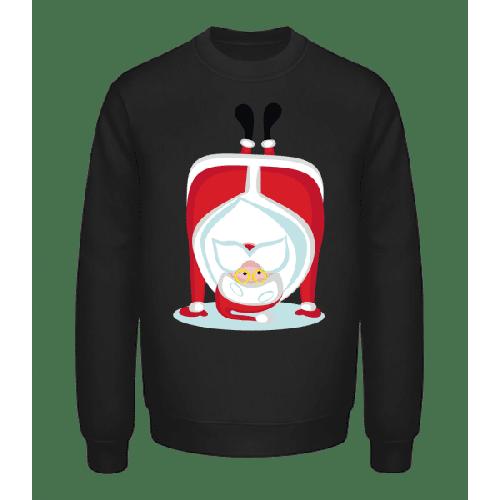 Weihnachtsmann Kopfstand - Unisex Pullover
