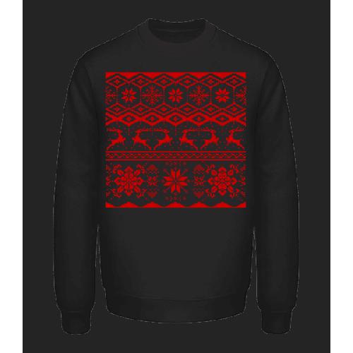 Weihnachtsmuster - Unisex Pullover