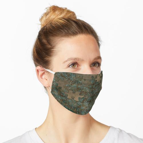 Puzzle oxidiertes Metall Maske