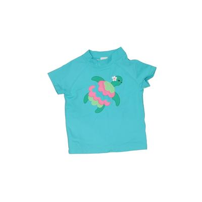 Gymboree Rash Guard: Blue Solid Sporting & Activewear - Size 3Toddler