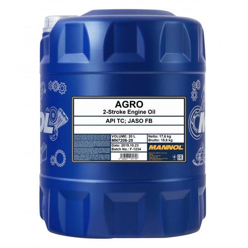 20l Mannol Motoröl Agro Mineralisch 2-takt-motor Husqvarna