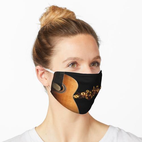 Gitarre und Noten Maske