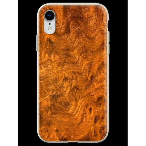 Vogelaugenahornholz Flexible Hülle für iPhone XR