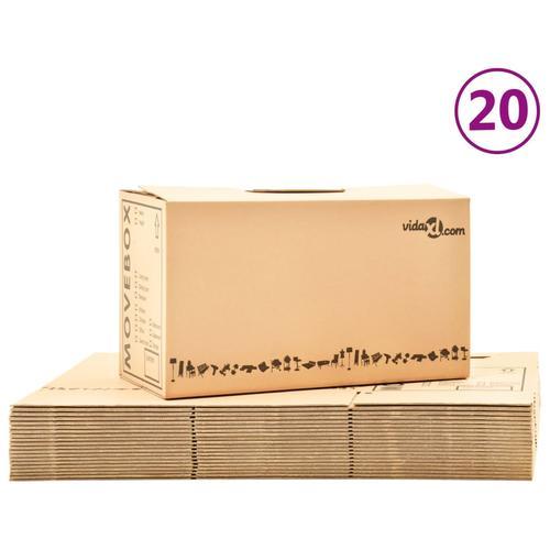 vidaXL Umzugskartons XXL 20 Stk. 60×33×34 cm