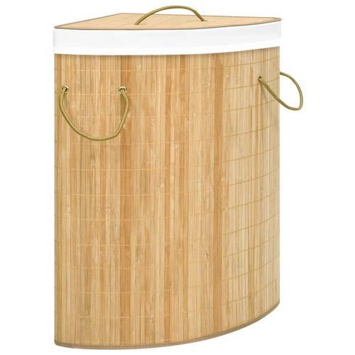 vidaXL Eck-Wäschekorb Bambus 60 L