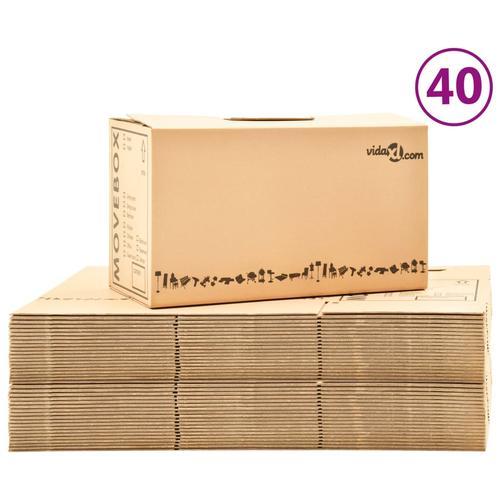 vidaXL Umzugskartons XXL 40 Stk. 60×33×34 cm