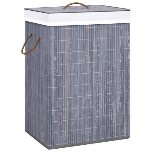 vidaXL Bambus-Wäschekorb Grau 72 L