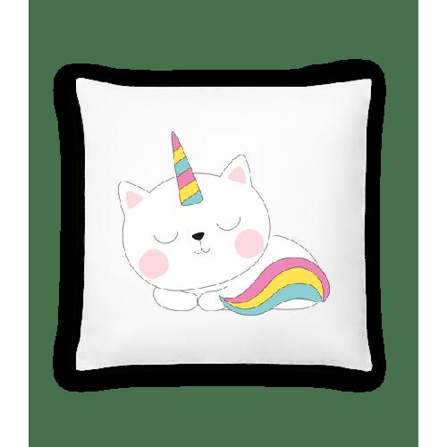 Schlafende Einhorn Katze - Kissen