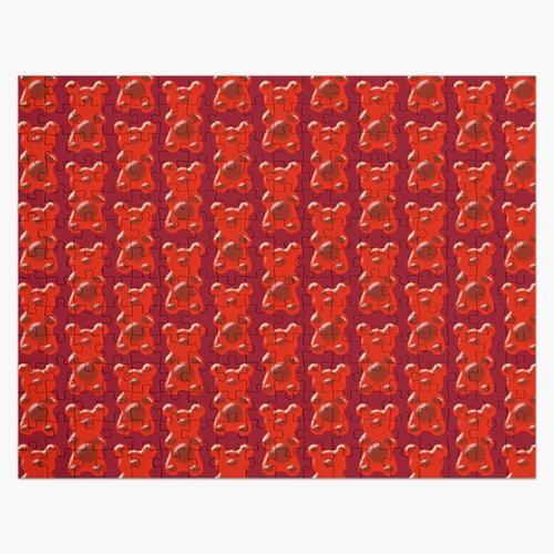 Rotes Deko Gummibärchen Puzzle