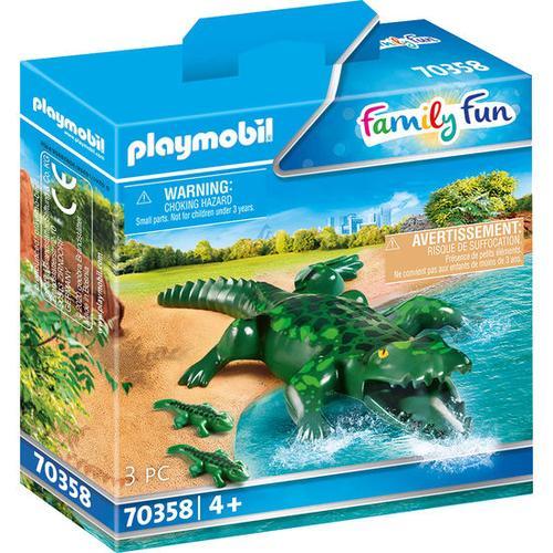 PLAYMOBIL® Family Fun 70358 Alligator mit Babys, bunt