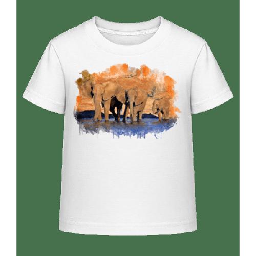 Elefanten Im Wasser - Kinder Shirtinator T-Shirt