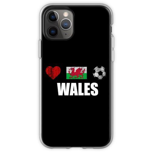 Wales Fußballtrikot - Wales Fußballtrikot Flexible Hülle für iPhone 11 Pro
