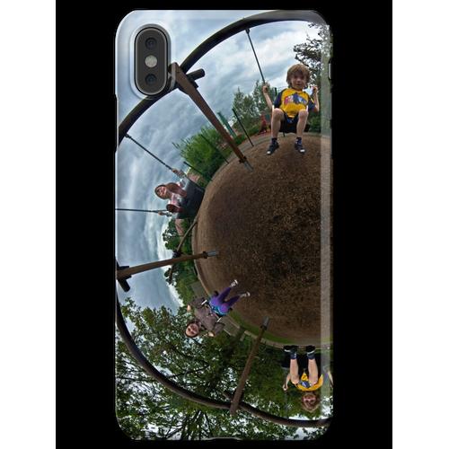 Geschwister auf einem 6-Sitzer-Schaukel iPhone XS Max Handyhülle
