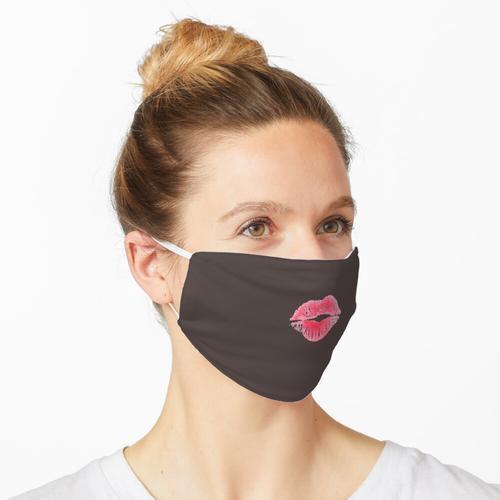 Lippen mit Lippenstift auf Ihrer Maske - Braun Maske
