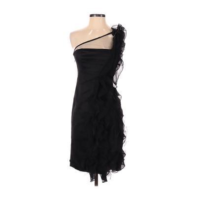 Karen Millen Cocktail Dress - Party: Black Solid Dresses - Used - Size 2