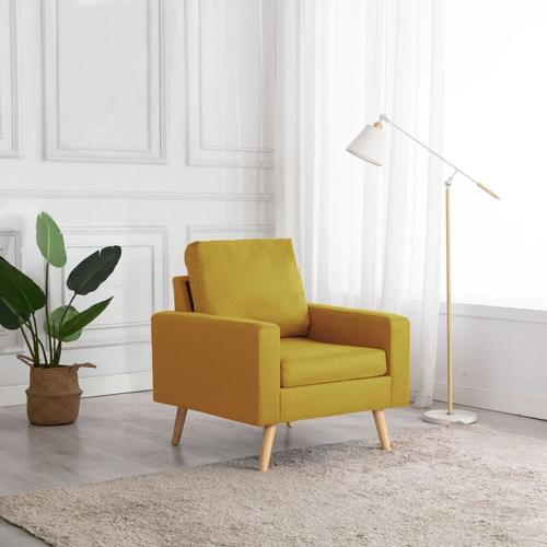 Sessel Stoff Gelb