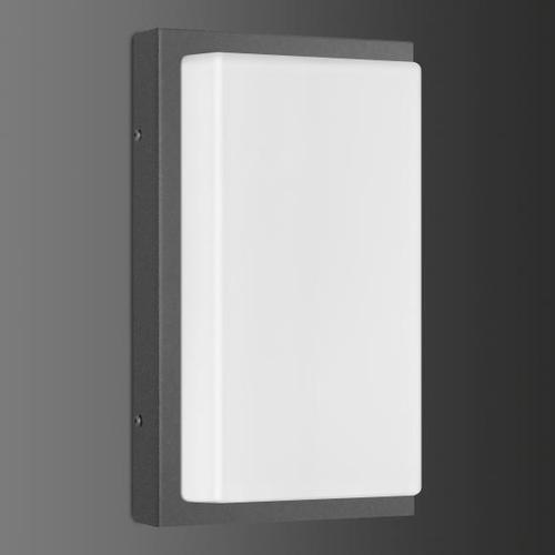LCD 058 Wandleuchte mit Bewegungsmelder B: 17 H: 29 T: 9 cm, graphit/opal weiß 058SEN, EEK: A++