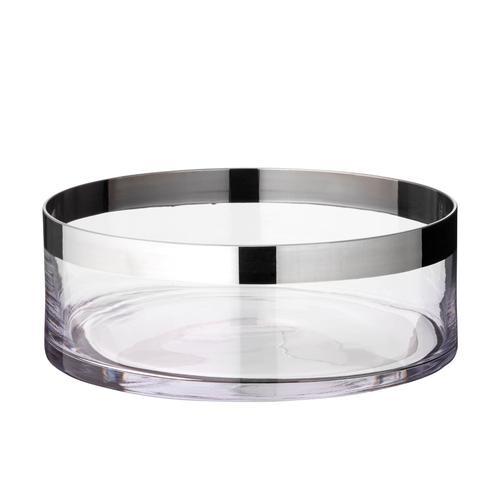 EDZARD Schale Grit, Kristallglas mit Platinrand farblos Schalen Geschirr, Porzellan Tischaccessoires Haushaltswaren