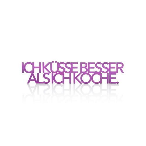 Klebe-Schriftzug IMPRESSIONEN violett