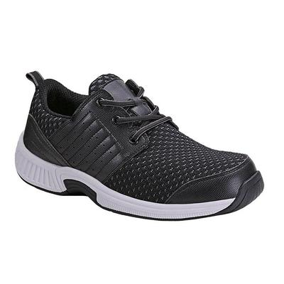 Doctor Recommended Standing All Day Sneakers, Arch Support, Ergonomic Sole, Men's Sneakers | OrthoFeet Footwear, Tacoma, 14 / Extra Wide / Black
