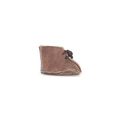 Booties: Brown Solid Shoes - Size 1