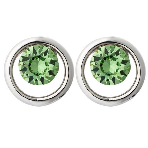 Pippa & Jean Paar Ohrstecker Set: PJ020, (2 tlg.), verziert mit Kristallen von Swarovski grün Damen Ohrringe Schmuck