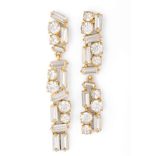 Pippa & Jean Paar Ohrhänger Set: PJ640, (2 tlg.), mit Glaskristall goldfarben Damen Ohrringe Schmuck