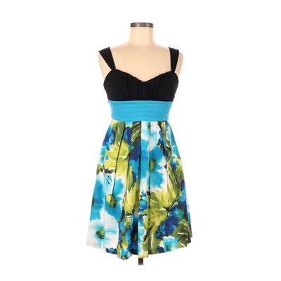 BCX dress Cocktail Dress - A-Line: Black Print Dresses - Used - Size 7